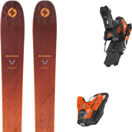 BU SKI BLIZZARD BLIZZARD COCHISE 106 21 + SALOMON STH2 WTR 13 N ORANGE/BLACK 21 - Ekosport