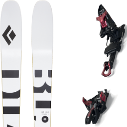 Boutique BLACK DIAMOND BLACK DIAMOND HELIO CARBON 88 21 + MARKER KINGPIN 13 75-100MM BLACK/RED 21 - Ekosport