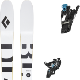 Pack ski BLACK DIAMOND BLACK DIAMOND HELIO CARBON 88 21 + SALOMON MTN TOUR BLACK/BLUE G90 21  - Ekosport