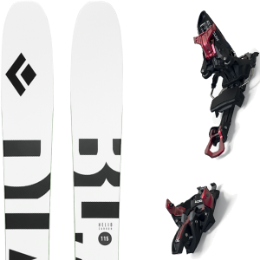 BLACK DIAMOND HELIO CARBON 115 21 + MARKER KINGPIN 13 100-125MM BLACK/RED 21
