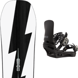 Snowboard BURTON BURTON CUSTOM NO COLOR 21 + BURTON CARTEL X BLACK 21  - Ekosport