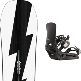 BU Ski Alpin BURTON BURTON CUSTOM NO COLOR 21 + BURTON CARTEL EST BLACK 21  - Ekosport