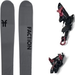 Pack ski FACTION FACTION AGENT 2.0 21 + MARKER KINGPIN 13 75-100MM BLACK/RED 21 - Ekosport