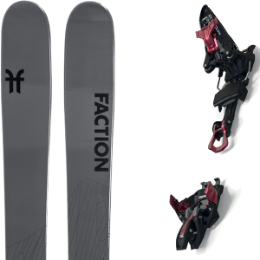 Pack ski FACTION FACTION AGENT 2.0 21 + MARKER KINGPIN 10 75-100MM BLACK/RED 21 - Ekosport