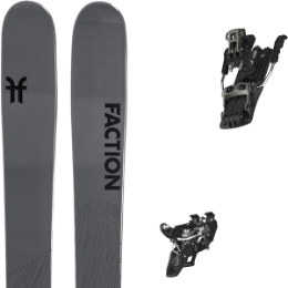 BU Fond / Rando FACTION FACTION AGENT 2.0 21 + ATOMIC BACKLAND TOUR BLACK/GUNMETAL 100 21 - Ekosport