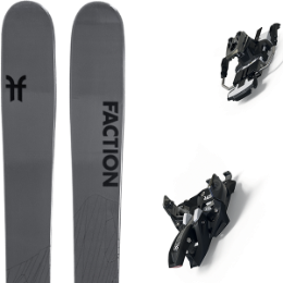 Pack ski FACTION FACTION AGENT 2.0 21 + MARKER ALPINIST 9 LONG TRAVEL 105MM BLACK/TITANIUM 20 - Ekosport