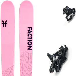 Pack ski FACTION FACTION AGENT 2.0 X 21 + MARKER ALPINIST 12 BLACK/TITANIUM 20 - Ekosport