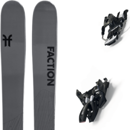 BU Fond / Rando FACTION FACTION AGENT 2.0 21 + MARKER ALPINIST 12 LONG TRAVEL 105MM BLACK/TITANIUM 20 - Ekosport