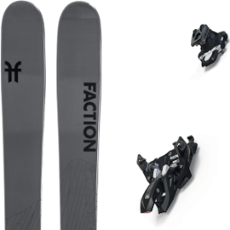 BU Fond / Rando FACTION FACTION AGENT 2.0 21 + MARKER ALPINIST 9 BLACK/TITANIUM 21 - Ekosport
