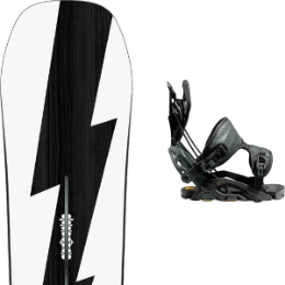 BU Ski Alpin BURTON BURTON CUSTOM NO COLOR 21 + FLOW FUSE-GT FUSION BLACK 21  - Ekosport