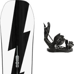 Boutique BURTON BURTON CUSTOM NO COLOR 21 + FLOW NX2 HYBRID BLACK 21 - Ekosport