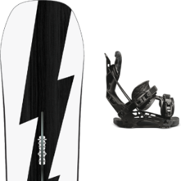 Snowboard BURTON BURTON CUSTOM NO COLOR 21 + FLOW NX2 FUSION BLACK 21  - Ekosport