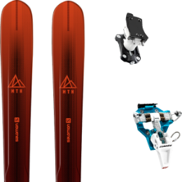 Pack ski SALOMON SALOMON MTN EXPLORE 88 RED/BLACK 21 + DYNAFIT SPEED TURN 2.0 BLUE/BLACK 21 - Ekosport