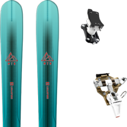 Pack ski SALOMON SALOMON MTN EXPLORE 88 W BL/TQ 21 + DYNAFIT SPEED TURN 2.0 BRONZE/BLACK 21 - Ekosport