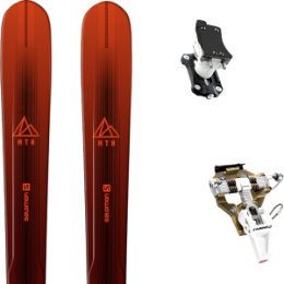 Pack ski SALOMON SALOMON MTN EXPLORE 88 RED/BLACK 21 + DYNAFIT SPEED TURN 2.0 BRONZE/BLACK 21 - Ekosport