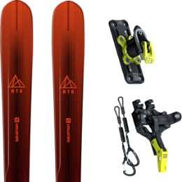Pack ski SALOMON SALOMON MTN EXPLORE 88 RED/BLACK 21 + ATK TROFEO PLUS 8 21 - Ekosport