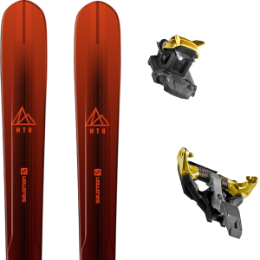Pack ski SALOMON SALOMON MTN EXPLORE 88 RED/BLACK 21 + DYNAFIT TLT SPEEDFIT 10 ALU YELLOW/BLACK 21 - Ekosport