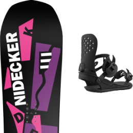 BU SKI NIDECKER NIDECKER AIR PIPE BLACK/WHITE 21 + UNION STRATA BLACK 21 - Ekosport