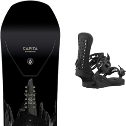 Snowboard CAPITA CAPITA SUPER D.O.A. 21 + UNION FORCE BLACK 21  - Ekosport