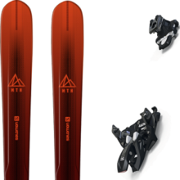 Pack ski SALOMON SALOMON MTN EXPLORE 88 RED/BLACK 21 + MARKER ALPINIST 12 BLACK/TITANIUM 20 - Ekosport