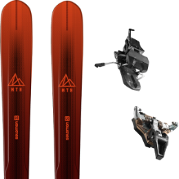 Pack ski SALOMON SALOMON MTN EXPLORE 88 RED/BLACK 21 + DYNAFIT ST RADICAL TURN 95 BLACK 21 - Ekosport