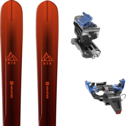 Pack ski SALOMON SALOMON MTN EXPLORE 88 RED/BLACK 21 + DYNAFIT SPEED RADICAL BLUE 21 - Ekosport