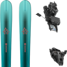 Pack ski SALOMON SALOMON MTN EXPLORE 88 W BL/TQ 21 + DYNAFIT ST ROTATION 10 90MM BLACK KS 21 - Ekosport