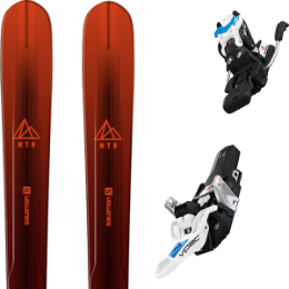 Pack ski SALOMON SALOMON MTN EXPLORE 88 RED/BLACK 21 + FRITSCHI VIPEC EVO 12 90MM 21 - Ekosport