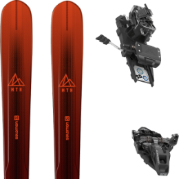 Pack ski SALOMON SALOMON MTN EXPLORE 88 RED/BLACK 21 + DYNAFIT ST ROTATION 10 90MM BLACK KS 21 - Ekosport