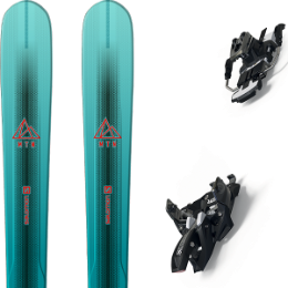 Pack ski SALOMON SALOMON MTN EXPLORE 88 W BL/TQ 21 + MARKER ALPINIST 9 LONG TRAVEL 90MM BLACK/TITANIUM 21 - Ekosport
