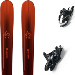 Pack ski SALOMON SALOMON MTN EXPLORE 88 RED/BLACK 21 + MARKER ALPINIST 9 LONG TRAVEL 90MM BLACK/TITANIUM 21 - Ekosport