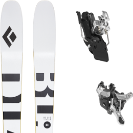 Pack ski BLACK DIAMOND BLACK DIAMOND HELIO CARBON 88 21 + ATK R12 - 91MM WHITE 21 - Ekosport