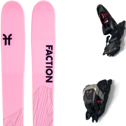 Pack ski FACTION FACTION AGENT 2.0 X 21 + MARKER DUKE PT 12 100MM BLACK/RED 21 - Ekosport