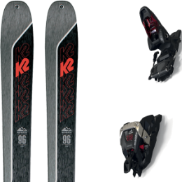 Boutique K2 K2 WAYBACK 96 21 + MARKER DUKE PT 12 100MM BLACK/RED 21 - Ekosport
