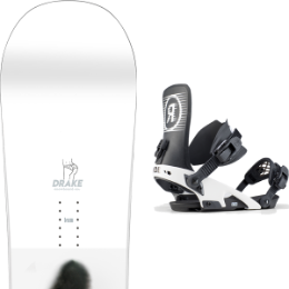Snowboard DRAKE DRAKE TEAM 20 + RIDE LTD BLACK 20 - Ekosport