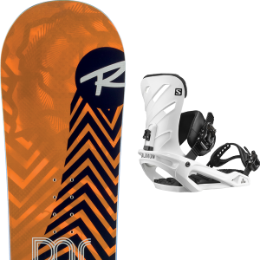 Snowboard ROSSIGNOL ROSSIGNOL DISTRICT 20 + SALOMON RHYTHM WHITE 20 - Ekosport