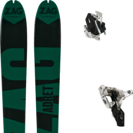 Pack ski ZAG ZAG ADRET 81 20 + MOVEMENT SUPERLIGHT TRACKS BLACK 21 - Ekosport
