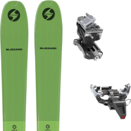 BLIZZARD ZERO G 095 GREEN 22 + DYNAFIT SPEED RADICAL SILVER 21