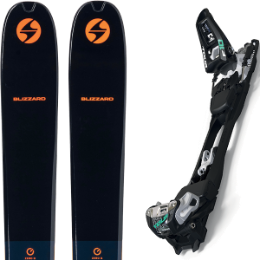 BLIZZARD ZERO G 105 BLUE/ORANGE 22 + MARKER F10 TOUR BLACK/WHITE 21