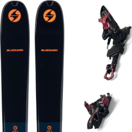 BLIZZARD ZERO G 105 BLUE/ORANGE 22 + MARKER KINGPIN 13 100-125MM BLACK/RED 21