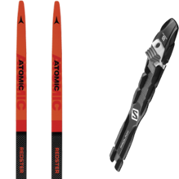 ATOMIC REDSTER S9 CARBON - UNI MED RED 21 + SALOMON PROLINK PRO COMBI 20