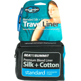 SEA TO SUMMIT SILK COTON TRAVEL LINER RECTANGULAR STANDARD 20